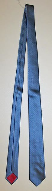 Necktie  Designer:Elsa Schiaparelli (Italian, 1890–1973) Department Store:R. H. Macy & Co. (American) Date:1950s Culture:French Medium:silk Credit Line:Gift of Mrs. Doris E. Grossman, 1978