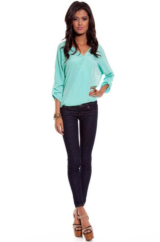 sea foam green: Clothing, Sienna Pocket, Pocket Tops, Tops 52, Products