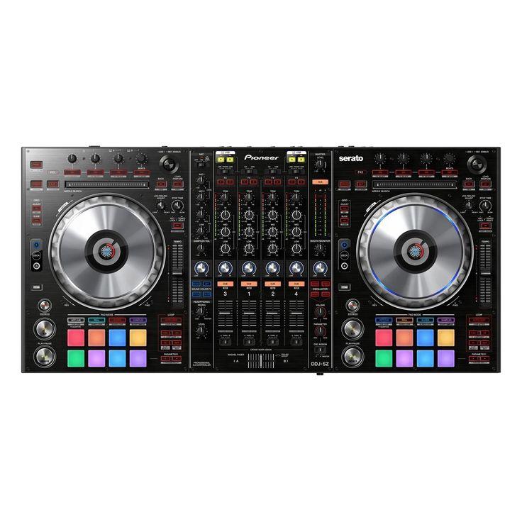 cool PIONEER DDJ-SZ VIRTUAL DJ PRO SERATO 4-CHANNEL PROFESSIONAL DJ CONTROLLER