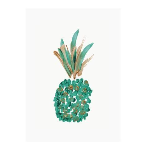 Green Pineapple greeting card by NUNUCO® #nunucodesign