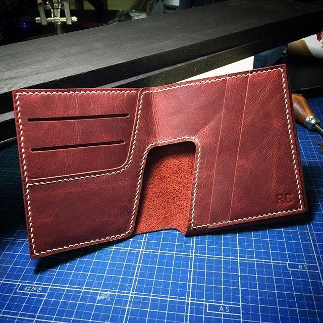#noti_2015 #design #art #leathergoods #leathercraft #hongkong #wallet #manila #red #handmade #handstitched