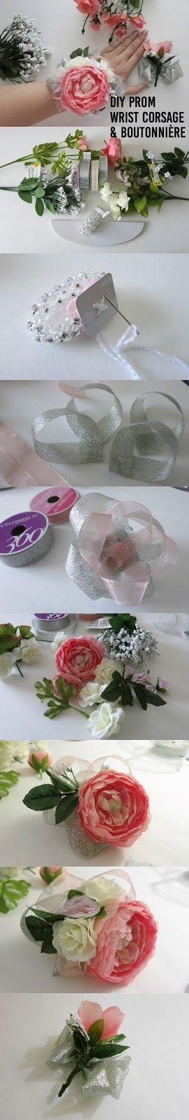 Vibrant Vantage: DIY Prom Wrist Corsage + Boutonnière