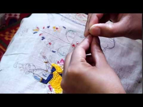 A short film demonstrating the craft of Chamba Embroidery
