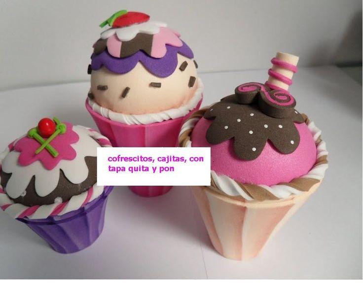 foami cupcakes - Buscar con Google
