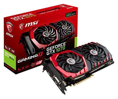 MSI GAMING X 8G Carte graphique Nvidia GTX1070 1797 MHz 8192 Mo PCI Express