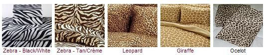 Animal print Safari bedding 200 tc 100% cotton sateen sheet sets