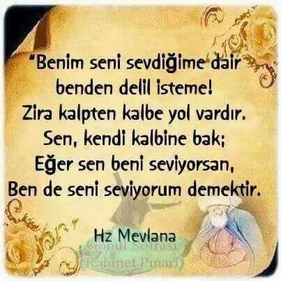 ❤️ Don't expect an indication from me for my love for you! There is a way from one heart to the other; Look at your own heart. In case you love me, it means I love you as well. ~Hz. Mevlana