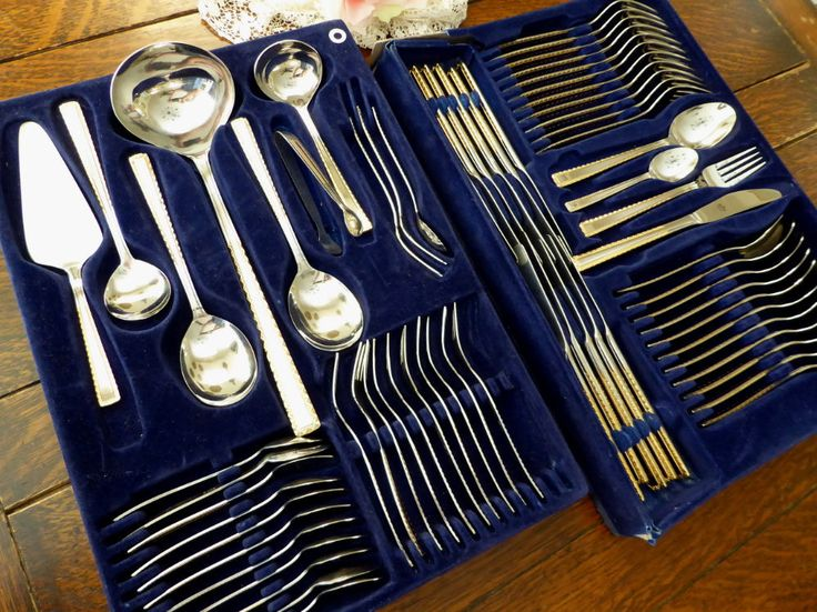 Bestecke Solingen 68pc 18/10 Stainless Flatware for 12 plus Hostess/Serving Set Vintage Made in Germany by MyFrenchTexas on Etsy