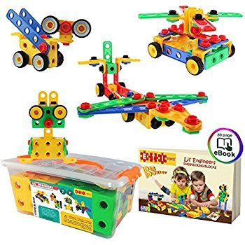 Amazon.com: ETI Toys | STEM Learning | Original 93 Piece Educational Construction Engineering Building Blocks Set for 3, 4 and 5+ Year Old Boys & Girls | Creative Fun Kit | Best Toy Gift for Kids Ages 3yr – 6yr: Toys & Games