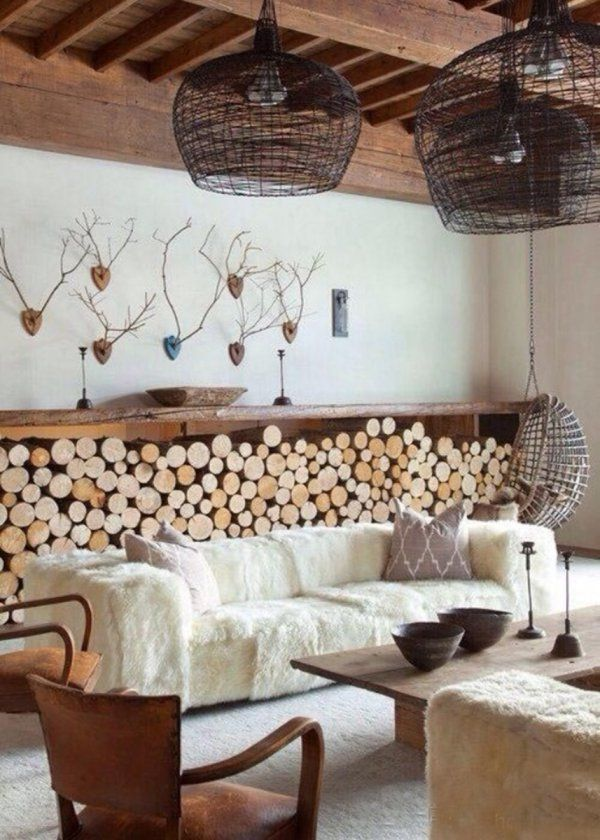 pinned by barefootblogin.com Une décoration cocooning , cosy home, fire place