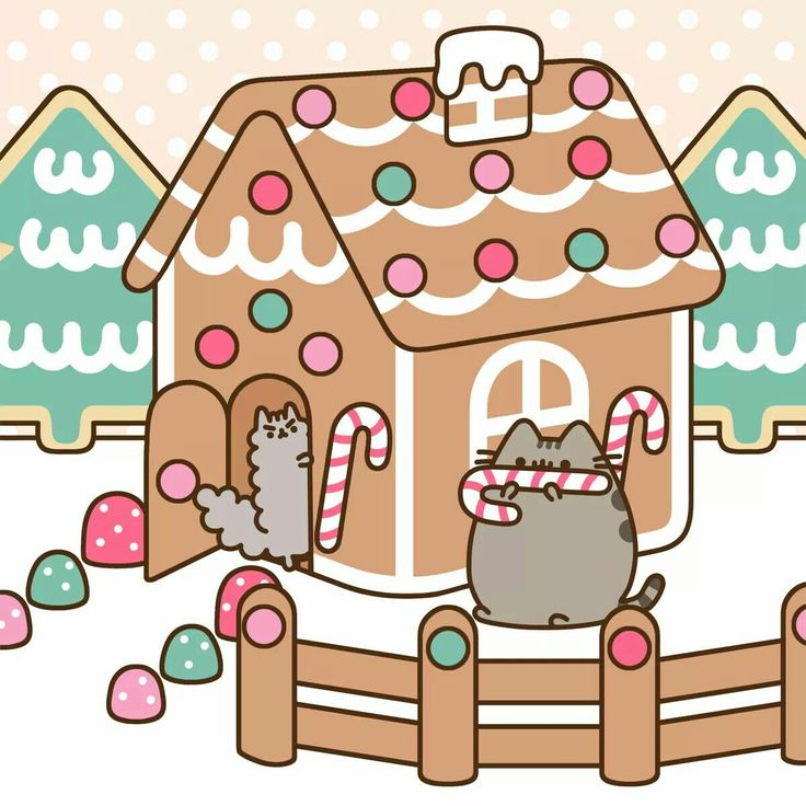 Pusheen the cat. Candy House