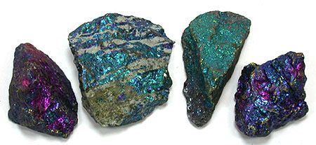Bornite, also known as peacock ore, is a sulfide mineral with chemical composition Cu5FeS4 that crystallizes in the orthorhombic system