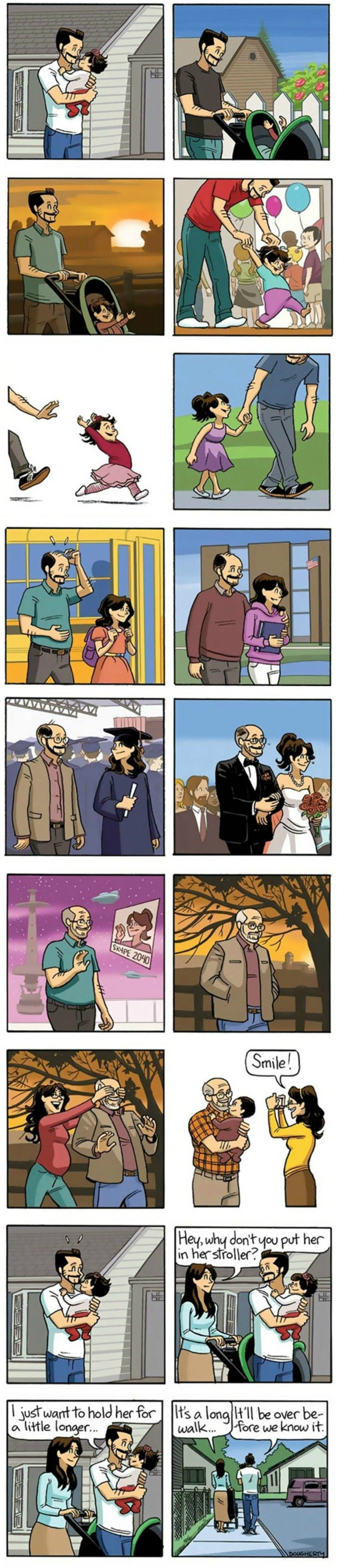 """Dan Dougherty s Beardo ic Strip Entitled """"The End"""" About Growing Old Will Melt Your"""