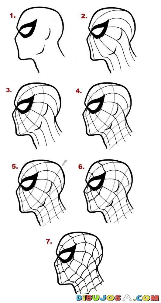 Como Aprender A Dibujar Al Hombre Arana En 7 Pasos Para Pintar Y Colorear A Spiderman | COLOREAR COMO APRENDER A DIBUJAR | Como Aprender A Dibujar Al Hombre Arana En 7 Pasos Para Pintar Y Colorear A Spiderman | dibujosa.com