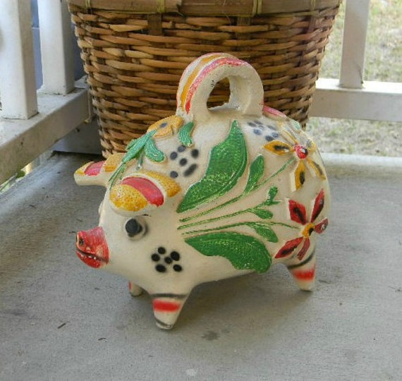 ViNTaGe PIGGY BANK PIG FiGuRiNE STaTuE by RosettaStones on Etsy, $24.99