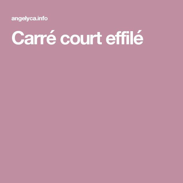 Best 25 carr court effil ideas on pinterest cheveu effil carr plongeant effil and carr - Carre effile court ...