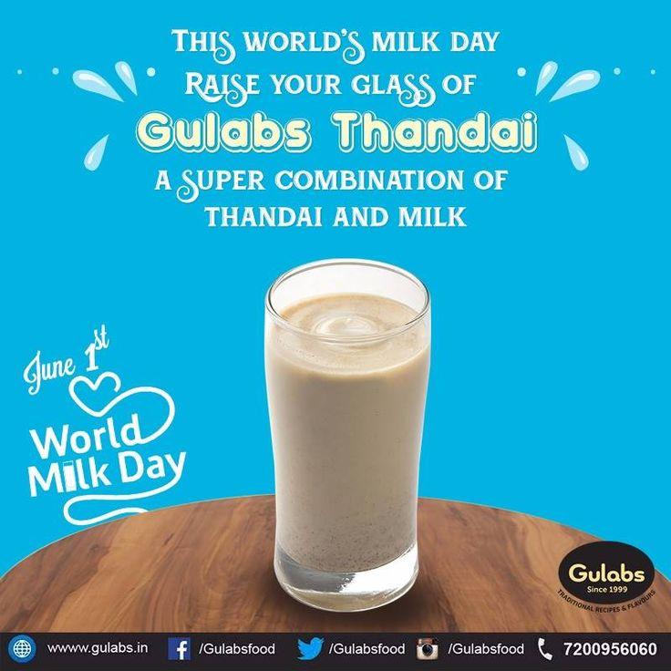 #Gulabs celebrates #WorldMilkDay!!  #milk #thandai