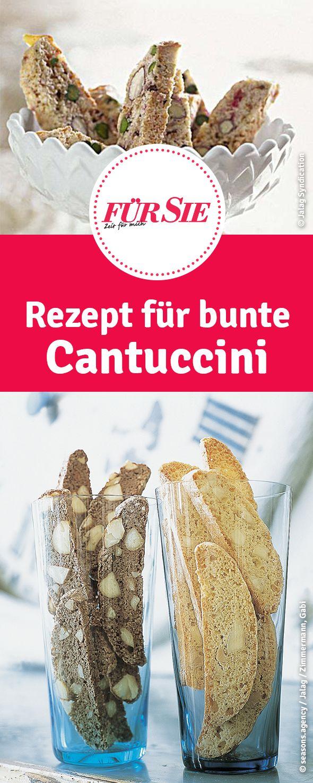 Rezept für bunte Cantuccini - italienische Plätzchen zu Weihnachten