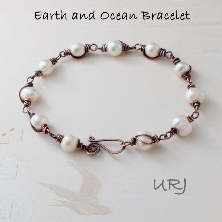 Unique Rabbit Jewellery - Earth and Ocean Bracelet, $42.00… sold.