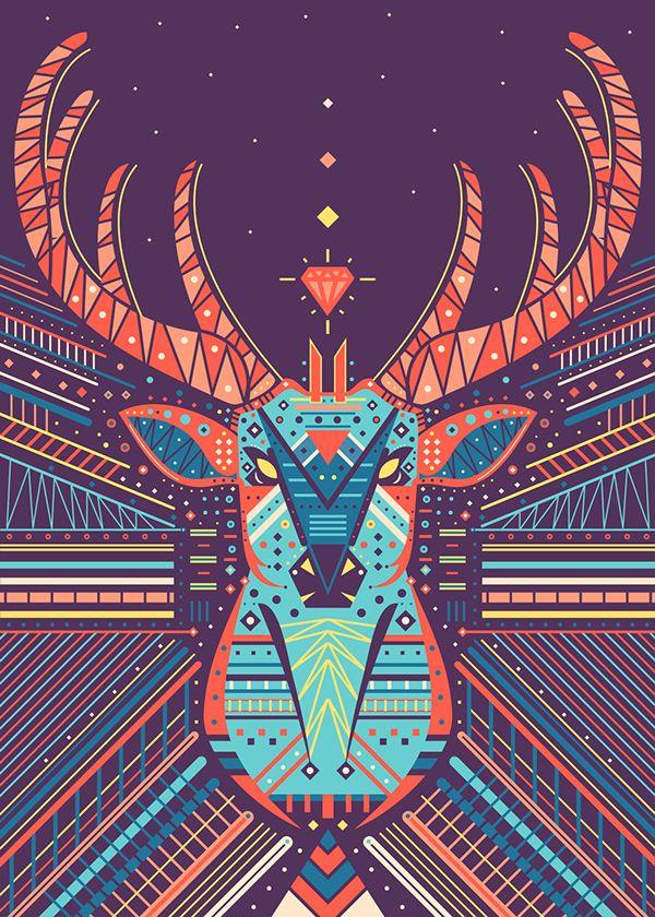 Symmetric Animals on Behance