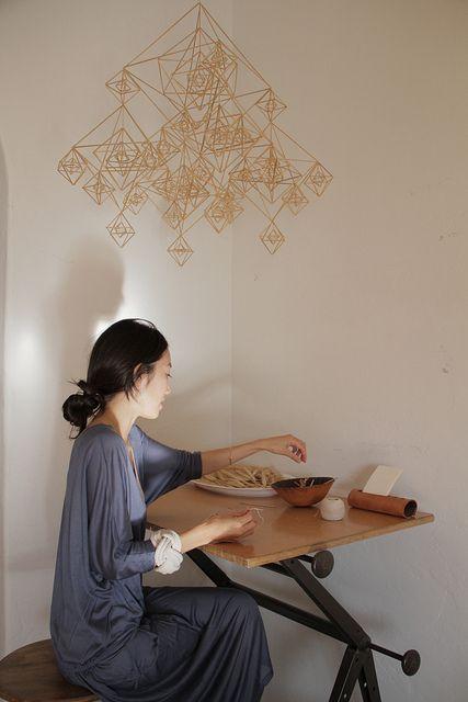 straw mobile (Himmeli), Momoko Suzuki