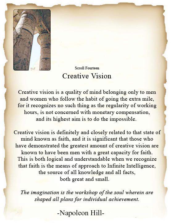 Scroll Fourteen: Creative Vision.