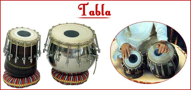 Tabla is the most popular percussion instrument of Hindustani music. It consists of a pair of drums, of which one is the treble (dayan) and the other the bass (bayan). Together they produce a fine texture of sound. The dhrupad and the dhammar alone use the pakhawaj. All other forms of Hindustani classical music use the tabla. The basic tonic note is tuned on the right drum and the left is tuned to an octave below.