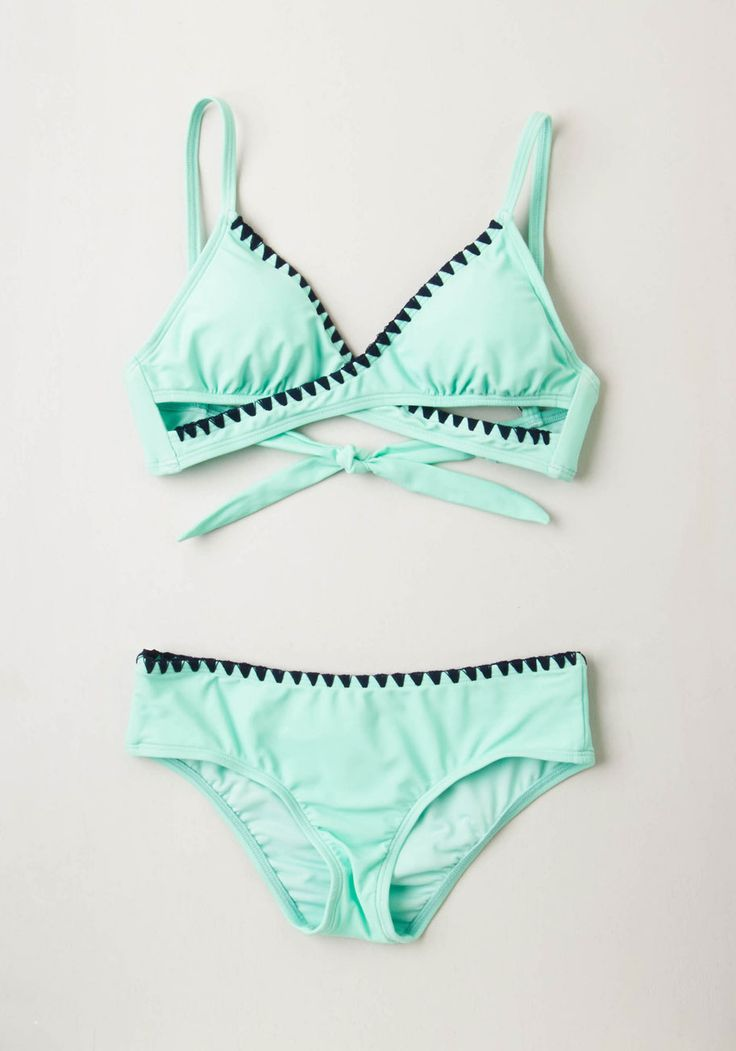 Another Day, Another Wave Swimsuit Top. Take a day off from the beach? #mint #modcloth