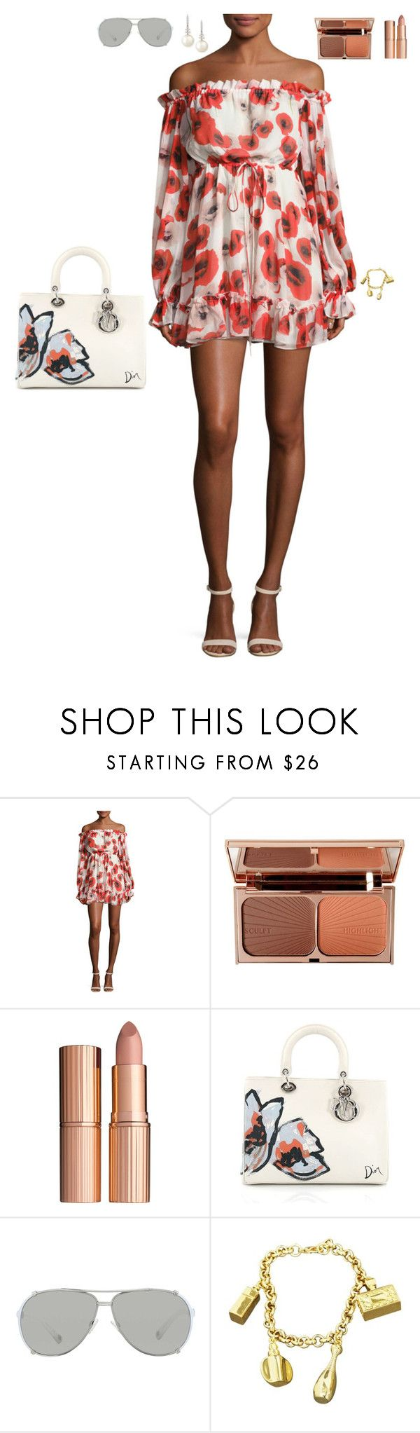 """Holiday on the beach"" by stylev ❤ liked on Polyvore featuring Nicholas, Charlotte Tilbury, Christian Dior and Belpearl"