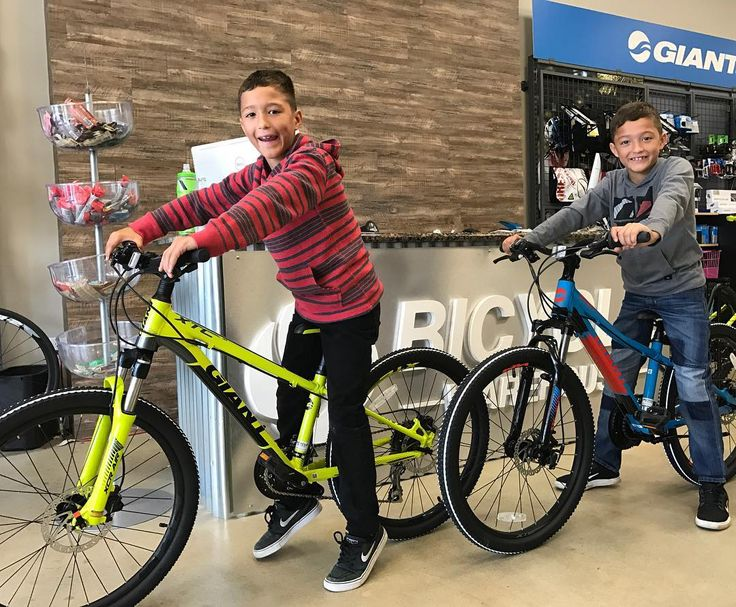 Aaron #1 and Aaron #2 are SO excited to have fun on their all new giant XTC Jrs! #bikes #happiness #freedom #fitness #fun #cycling #itsyourworldrideit #bicyclewarehouse #giant #giantbicycles #bikesforlife