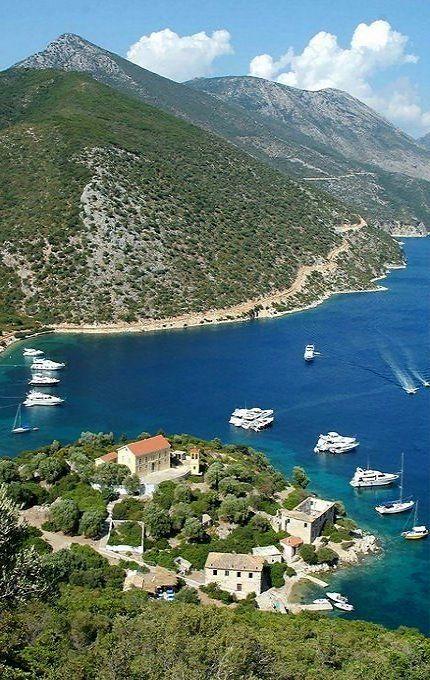 amazing view to the Aegean Sea at Porto Leone ~ Kalamos Island (Ionian), Greece