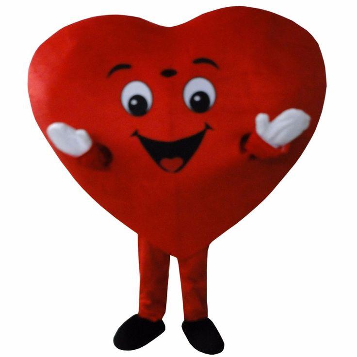 Hot Selling Red Heart Adult Mascot Costume Fancy Dress