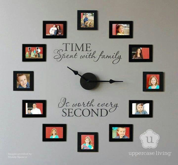 Great family clock idea. Time spent with family is priceless