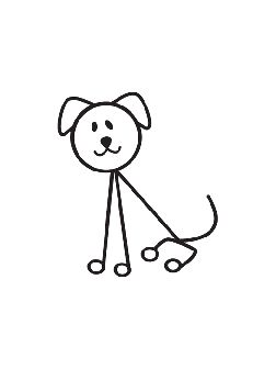 Stick figure dog