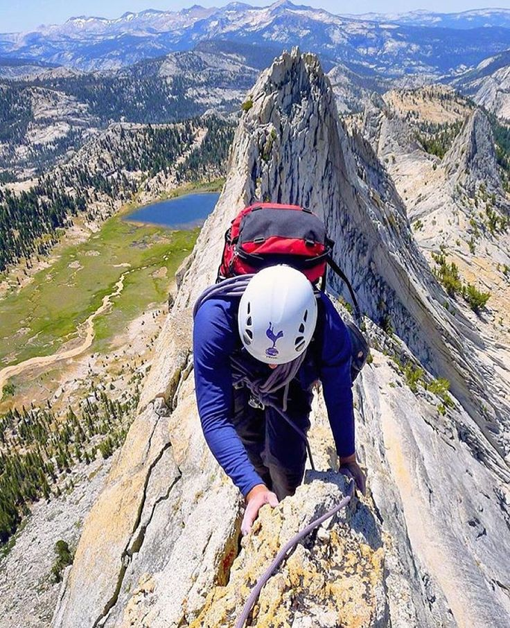 Would love to be doing this now... Climbing the Matthes Crest