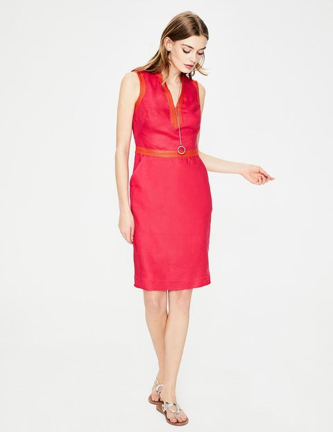 8453bb996f Linen Notch Neck Dress W0108 Dresses at Boden | Wish list | Dresses ...