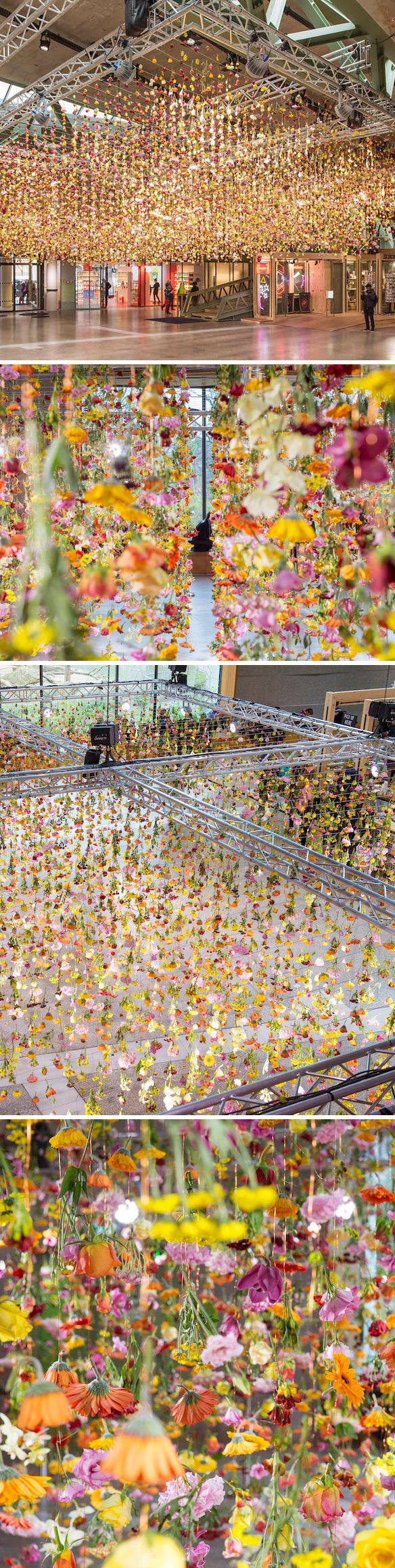 rebecca louise law, flower installation in berlin