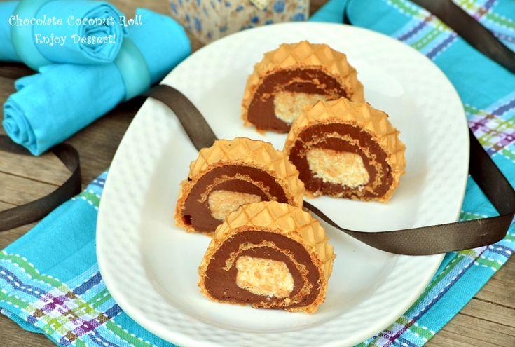Rulada de ciocolata de casa cu crema Rafaello