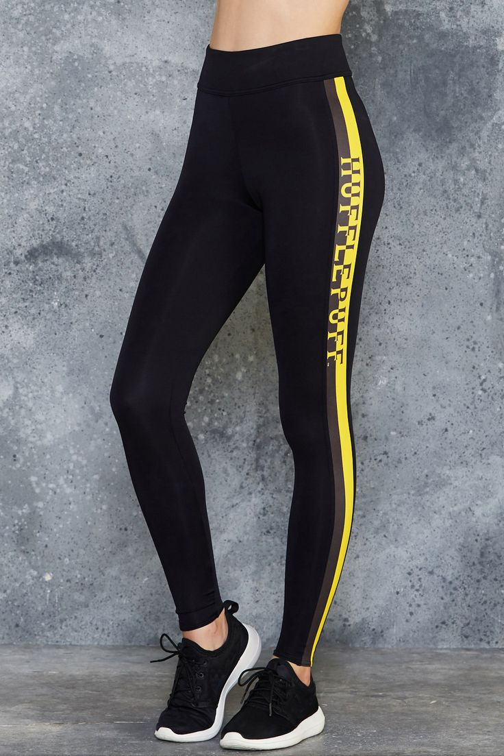 Hufflepuff High Waisted Ninja Pants ($120AUD) by BlackMilk Clothing