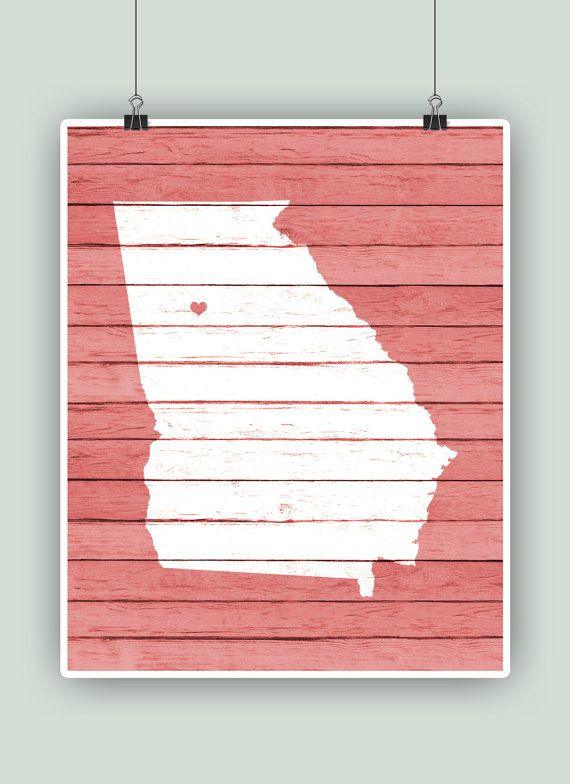 Georgia PRINTABLE Georgia Poster Personalized by DigitalArtLand