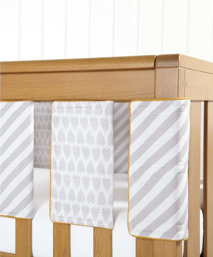 Patternology - Unisex Grey Cot Bar Bumpers (pack of 8) - Patternology - Mamas &  #mamasandpapas #dream nursery