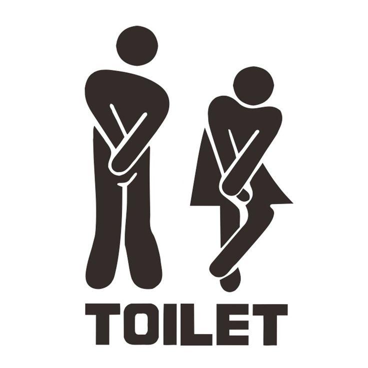 Fun Toilet Sign Sticker //Price: $4.09 & FREE Shipping //     #DIY
