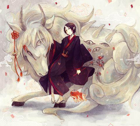 白澤さんが神獣姿のときは悪友的な感じでお互い連れ添ってたら良いよね!っていう。喧嘩しつつも背中合わせて戦うような..なんかそんな関係だとグッときます。とりあえず神獣姿が好きです。もふもふ! ■神獣様