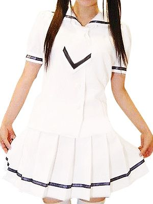 Short Sleeves White Skirt Cute School Uniform Cosplay Costume #EveryoneCanCosplay! #Cosplaycostumes #AnimeCosplayAccessories #CosplayWigs #AnimeCosplaymasks #AnimeCosplaymakeup #Sexycostumes #CosplayCostumesforSale #CosplayCostumeStores #NarutoCosplayCostume #FinalFantasyCosplay #buycosplay #videogamecostumes #narutocostumes #halloweencostumes #bleachcostumes #anime