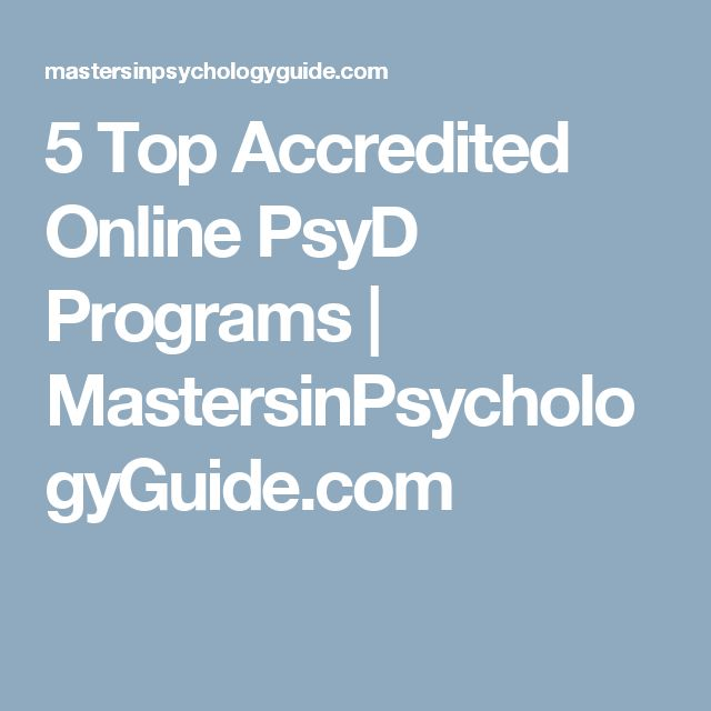 5 Top Accredited Online PsyD Programs | MastersinPsychologyGuide.com