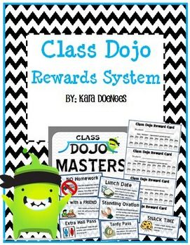 Class Dojo Rewards System for Middle School (EDITABLE)
