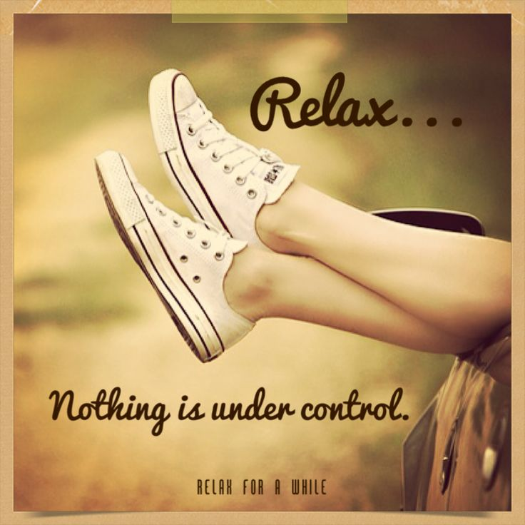 Personally I have struggled with the tendency to want to control things all my life and once I let go...I find that there's more satisfaction in giving up control than in taking it. www.relaxforawhile.com