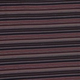 We love this unusual cotton-Lycra fabric from Italy! It features a milk chocolate-colored background with stripes of dark brown, black and metallic gold. The crosswise stretch will make this fabric so comfortable to wear. We see this lightweight fabric as tops and tunics.