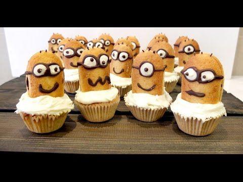 Cupcakes Minions de Gru, receta casera paso a paso.