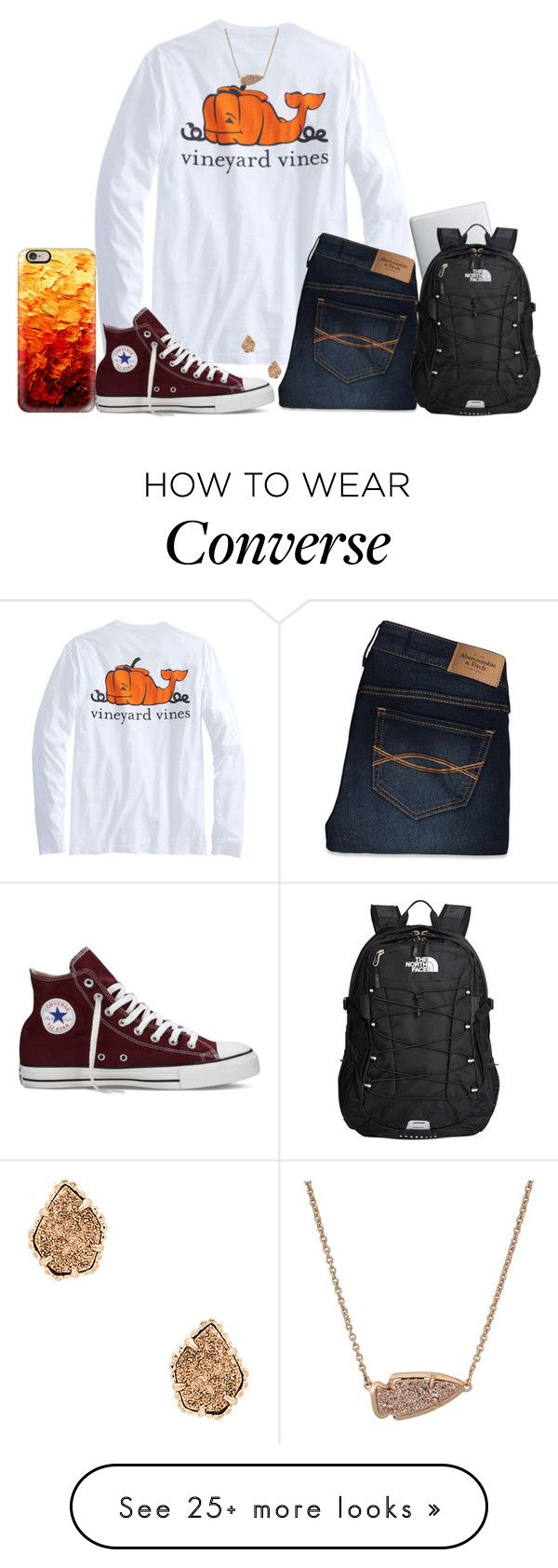 """""""{Contest in D!!}"""" by ygkwhite on Polyvore featuring Casetify, Converse, Abercrombie & Fitch, Kendra Scott, The North Face and ygkfallcontest"""